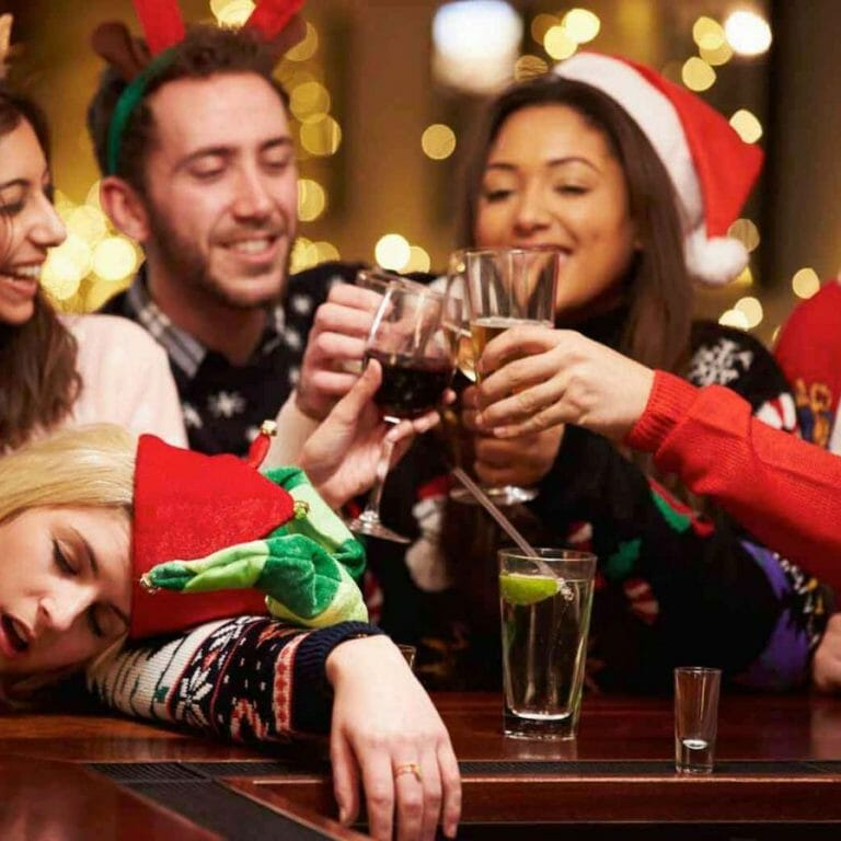Coffee makes your Xmas party burn worse
