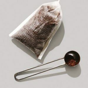 Fill The Tea Bag With Ground Coffee