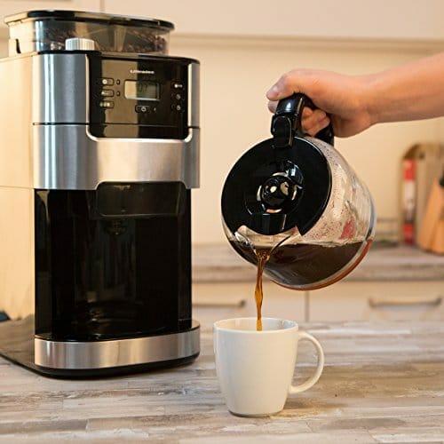 Ultratec Kaffeemaschine Kaffee Vollautomat mit Mahlwerk und Timerfunktion EdelstahlSchwarz 0 3