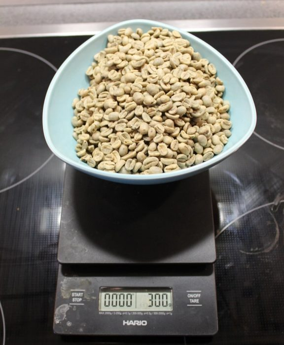 greenn coffee beans in bowl